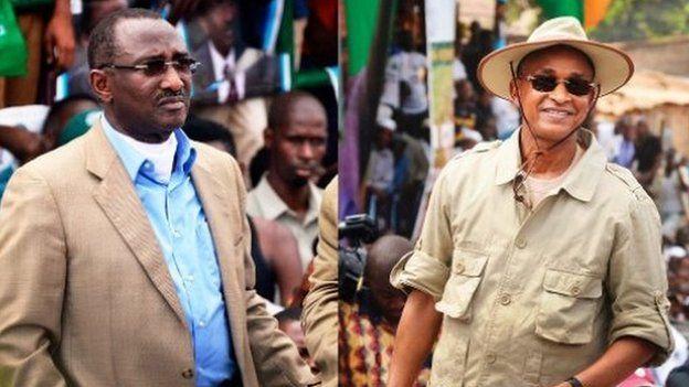 Les anciens Premiers ministres Sidya Touré et Cellou Dalein Diallo, principaux leaders de l'opposition guinéenne