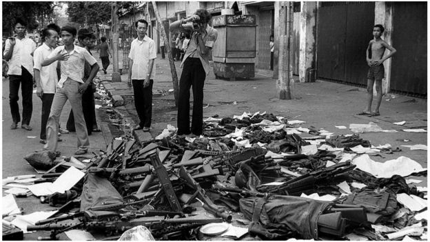 Vũ khí Mỹ trên phố Sài Gòn ngày 27/5/1975