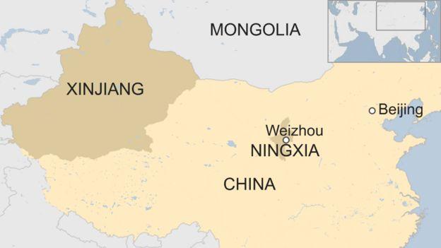 Ningxia China Map.China Mosque Demolition Sparks Standoff In Ningxia Bbc News