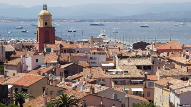 A view of the village of Saint-Tropez on July 10, 2013,