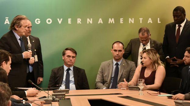 Jair Bolsonaro se reúne com membros do PSL
