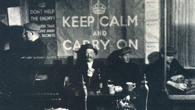 Keep Calm and Carry On - сдержанные британцы редко впадают в панику