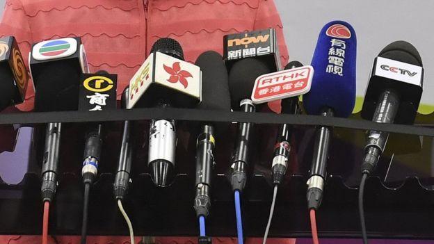 香港媒体话筒