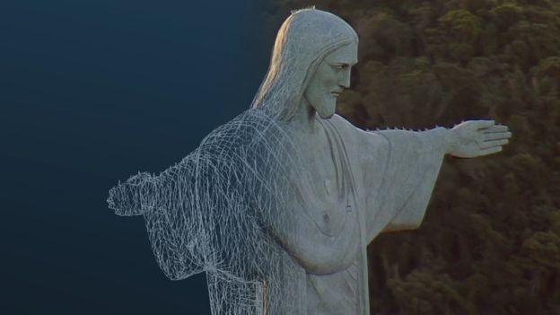 Scan of Christ the Redeemer statue in Rio de Janeiro