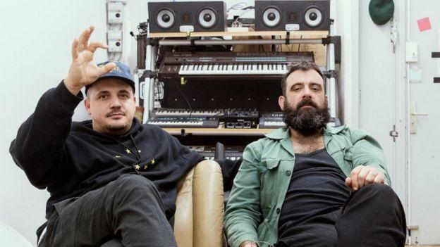 Sebastian Szary (right) and east Berlin schoolmate Gernot Bronsert of Berlin electronic duo Modeselektor