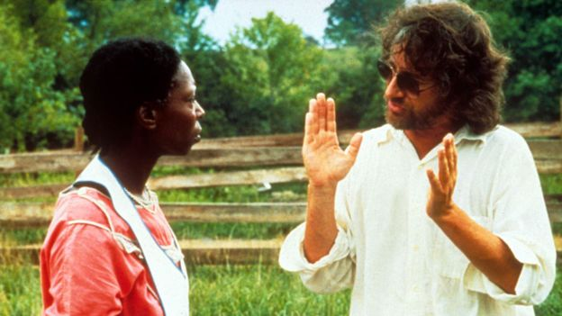 Whoopi Goldberg and Steven Spielberg