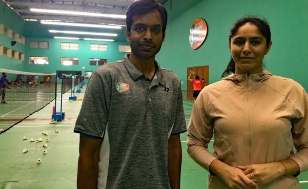 Manasi Joshi with Gopichand