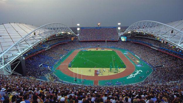 Estadio de los Juego Olímpicos de Sídney en 2000-