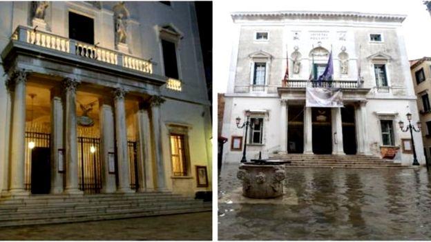 被淹前後的鳳凰劇院。
