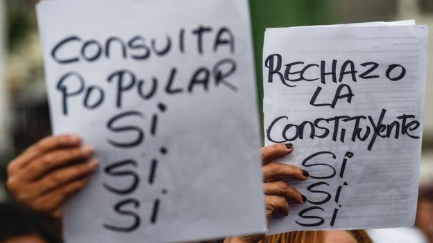 Protesta contra la Constituyente