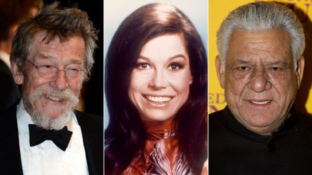 John Hurt, Mary Tyler Moore and Om Puri
