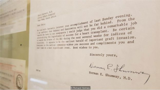 Telegrama, Museu do Coração da Cidade do Cabo, na África do Sul