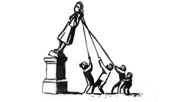رسم للفنان البريطاني بانكسي