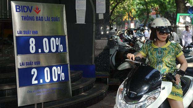 Tỷ giá lãi xuất bên ngoài ngân hàng BIDV hồi 2013