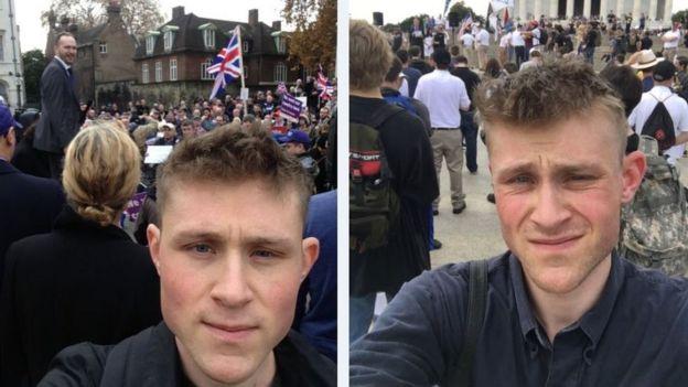 赫曼森以另類右派支持者的身份出席他們的集會