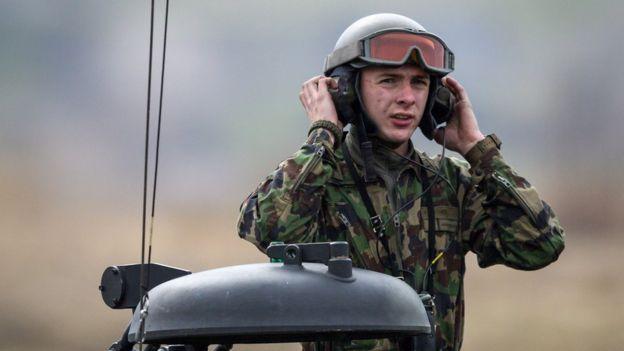 A Swiss soldier.