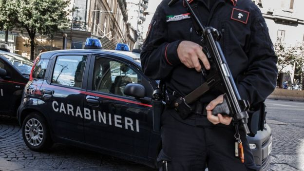 Italian Mafia 'godfather' Settimo Mineo held in Sicily raid