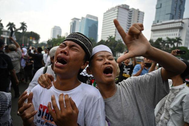 Massa pendukung Prabowo