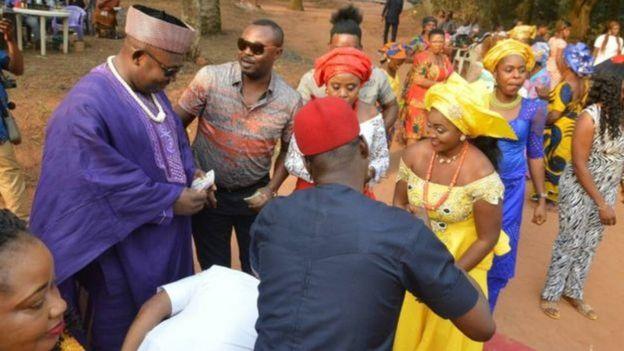 Cerimônia de casamento do casal