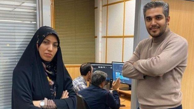 علی رضوانی و آمنهسادات ذبیحپور از مجریان برنامه بیست و سی که به همکاری با نهادهای امنیتی متهم هستند