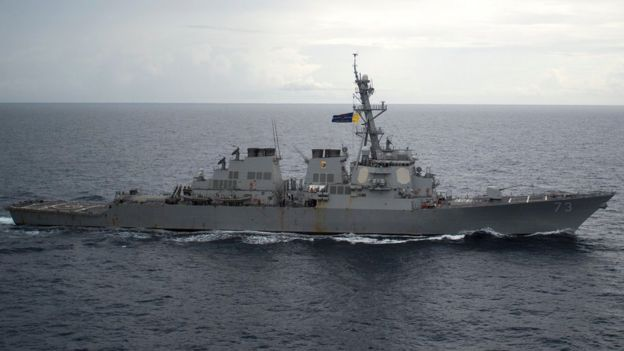 USS Decatur (DDG 73) en el Mar de China Meridional
