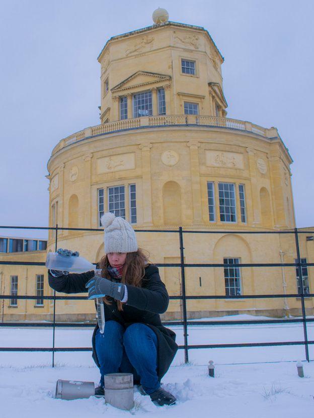 Emma Howard on a snowy morning