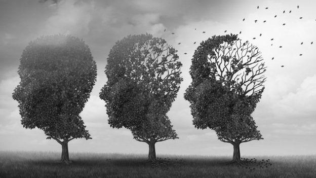 أشجار في صورة رأس بشرية