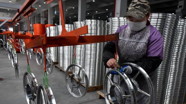 浙江一家生產自行車的民營企業