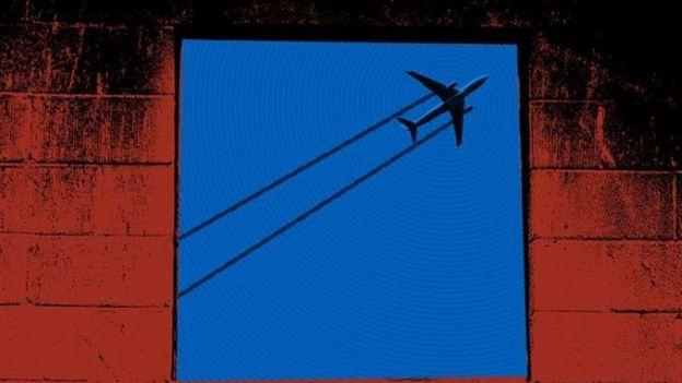 Ilustración Aimee Browes de un avión.