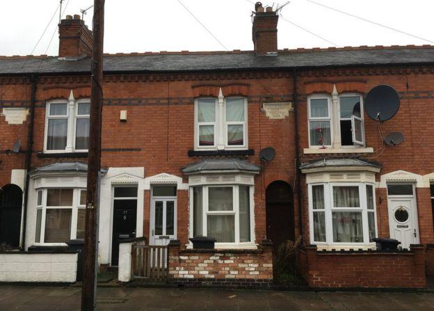 La calle Sylvan de Leicester, Reino Unido