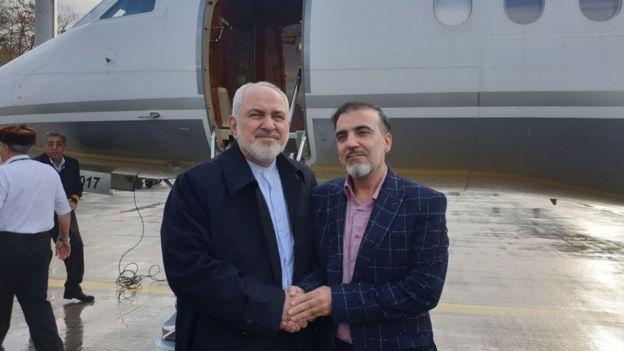 Массуд Солеймани (справа) и министр иностранных дел Ирана Джавад Зариф