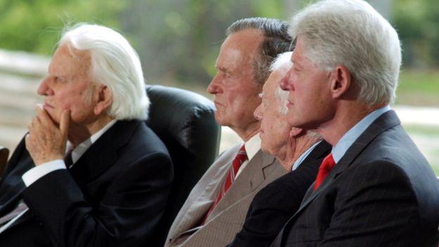 Билли Грэм, Джордж Буш, Джими Картер и Билл Клинтон