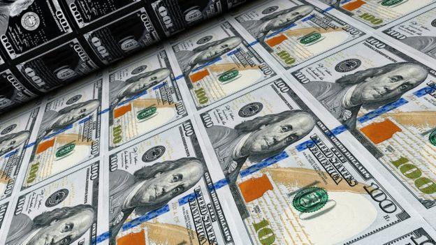 Impressão de notas de US$ 100