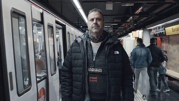 Javier no metrô