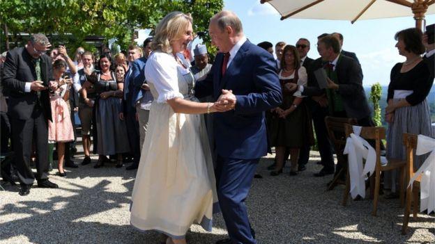 Путин и Карин Кнайссль