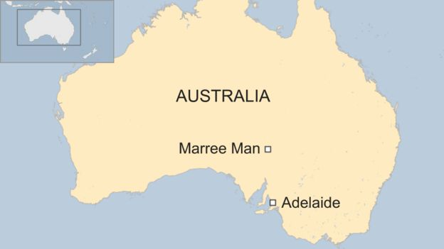 Giant Map Of Australia.Marree Man The Enduring Mystery Of A Giant Outback Figure Bbc News