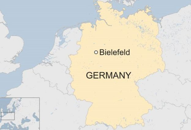 Map Of Germany Showing Cities.City Of Bielefeld Offers 1m For Proof It Doesn T Exist Bbc News
