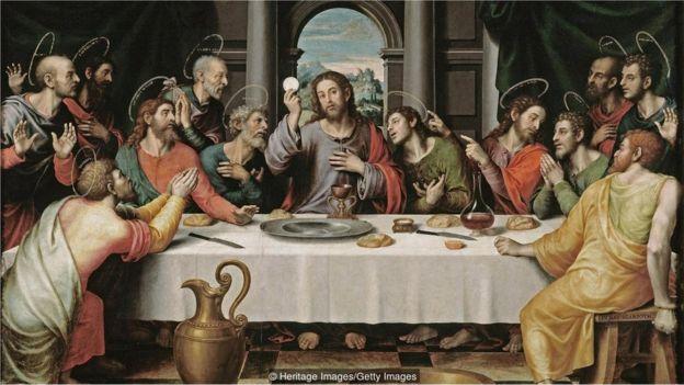 Jesus Cristo durante a Última Ceia