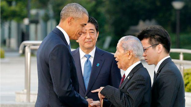 Barack Obama en Hiroshima.