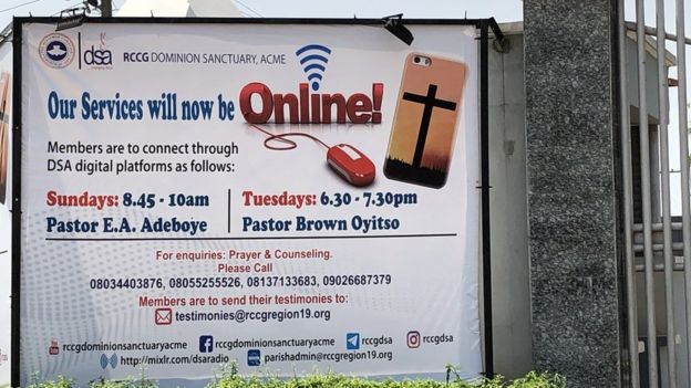 Church advertising online services