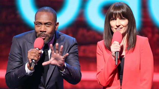 Sir Lenny Henry and Davina McCall on Comic Relief 2015
