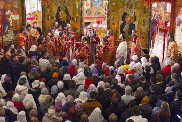 Пасхальная служба в Свято-Елисаветинском монастыре