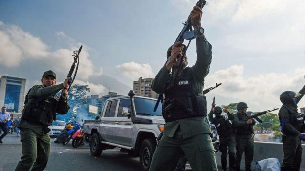 Fuerzas armadas venezolanas.