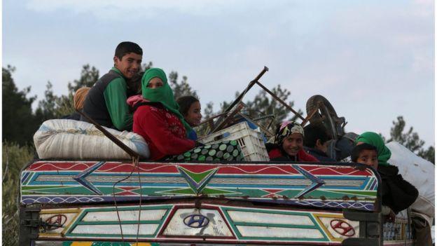 از زمان شروع درگیریهای در شمال سوریه هزاران نفر از این شهر گریختهاند