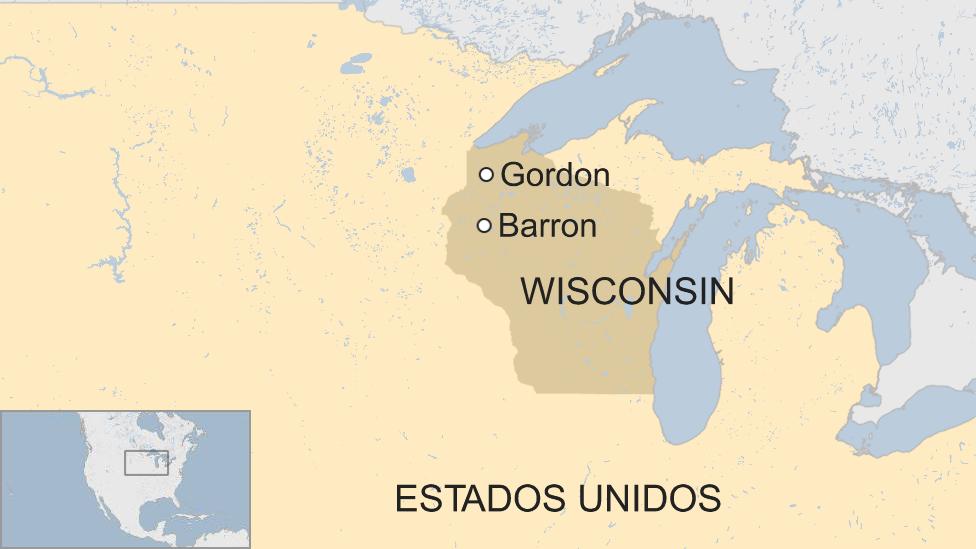 Mapa de Wisconsin