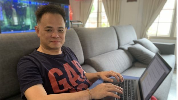 Alvin Foo working from home