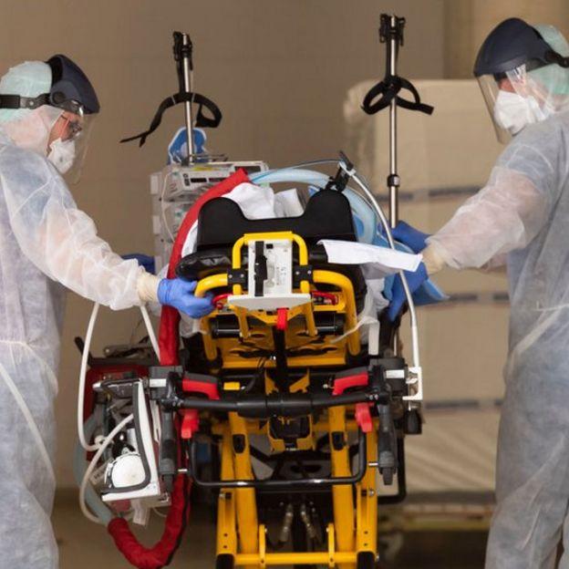 Пациент с коронавирусом в Германии