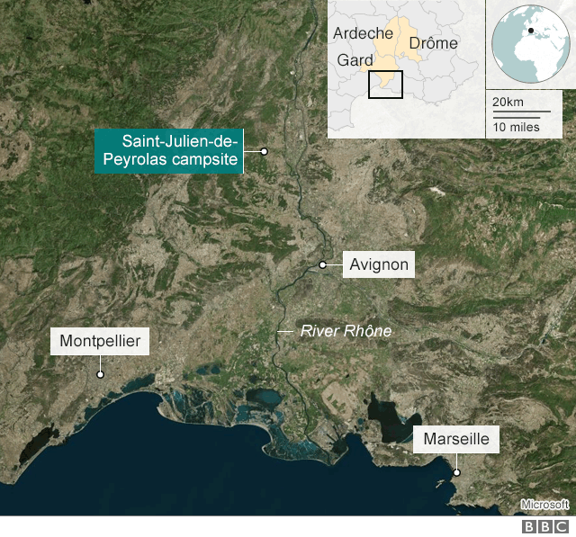 French Floods Map France floods: 1,600 evacuated, German missing at campsite   BBC News