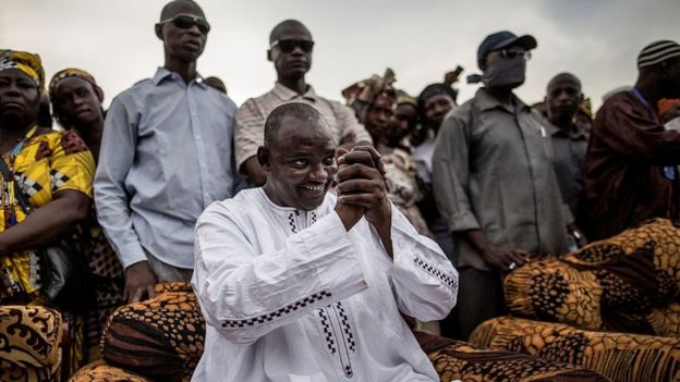 Businessman Adama Barrow, the unique opposition candidate challenging President Jammeh in the December presidential vote