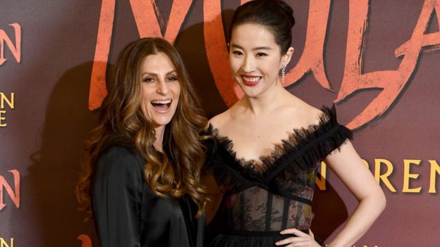 Niki Caro and Yifei Liu